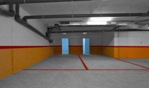 Parking, detalle de plazas con trastero integrado